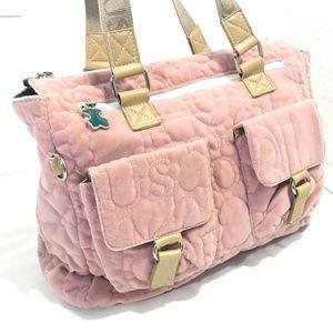 TOUS Pink Bears Zip Bag Handbag Tote